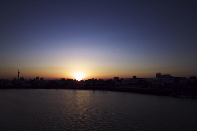 Katsushika Sunset River