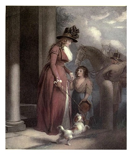008-La puerta del hacendado 1790-George Morland-Old English colour prints 1909-Charles Holme
