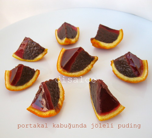 portakal kabuğunda jöleli puding