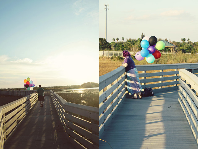 balloon shoot 14 diptych
