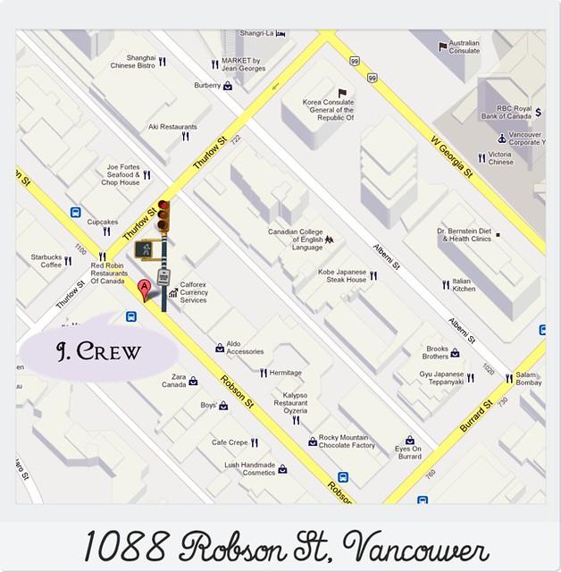 JCrew Vancouver_Google Maps