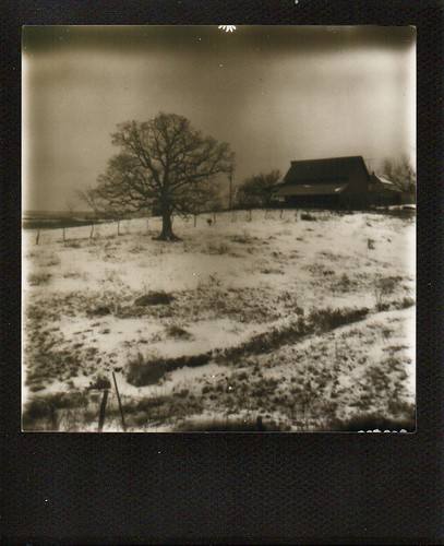 Barn in Snow-1