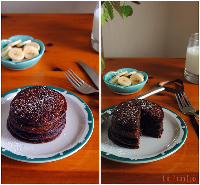 Soaked Chocolate Pancakes