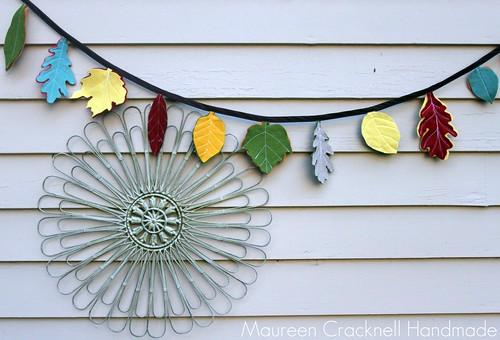 Felt Leaf Garland