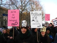 Massendemonstration gegen ACTA am 11.02.2012