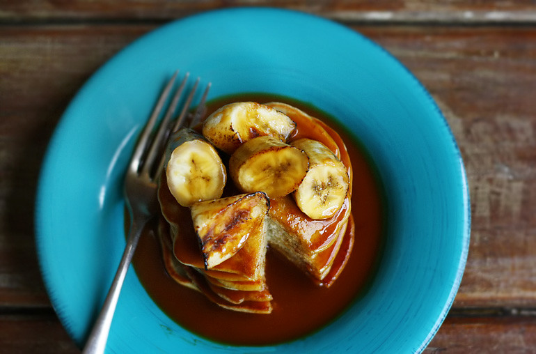 ... with Grilled Bananas and Salted Caramel Rum Sauce - Citrus and Candy