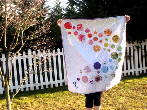 Bubble Trail baby quilt