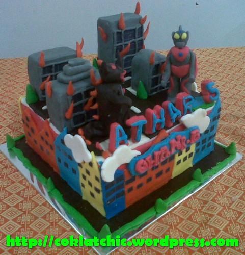 Kue ulang tahun dengan tema Cake Ultraman model ini mulai dari harga