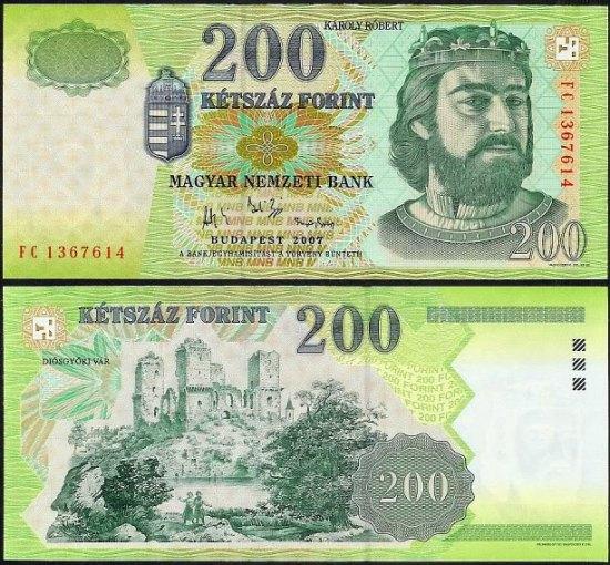 200 Forintov Maďarsko 2007, Pick 187g
