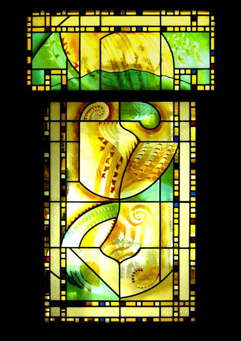 Stained glass Fibonacci window