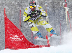 Tristan Tafel  in action during the Sport Chek Ski Cross Canadian Championships.