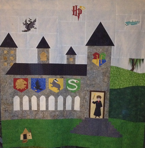 Center panel of Harry Potter Quilt