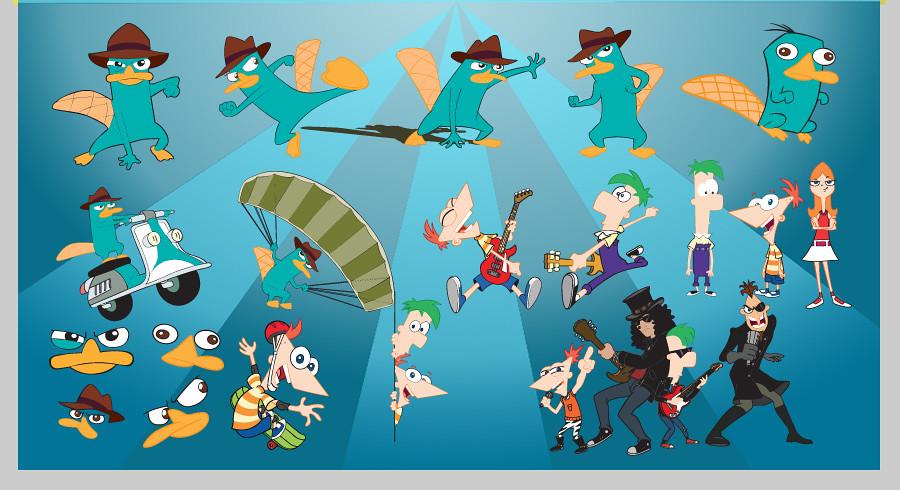 Phineas y Ferb vectores gratis - Imagui
