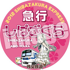 急行列車「あの花×芝桜」号