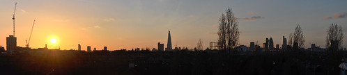 Sunset from Stave Hill - panorama