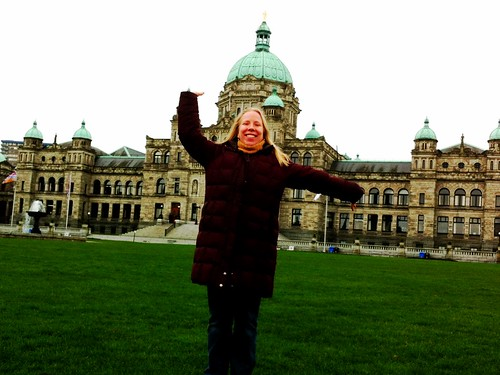 In front of the BC Legislature