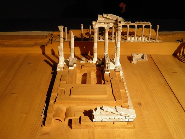 Model for the reconstruction of the Trajaneum, 1986, Pergamon: Panorama of the Ancient City Exhibition, Pergamon Museum, Berlin
