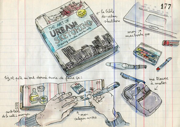 my copie of the art of urban sketching