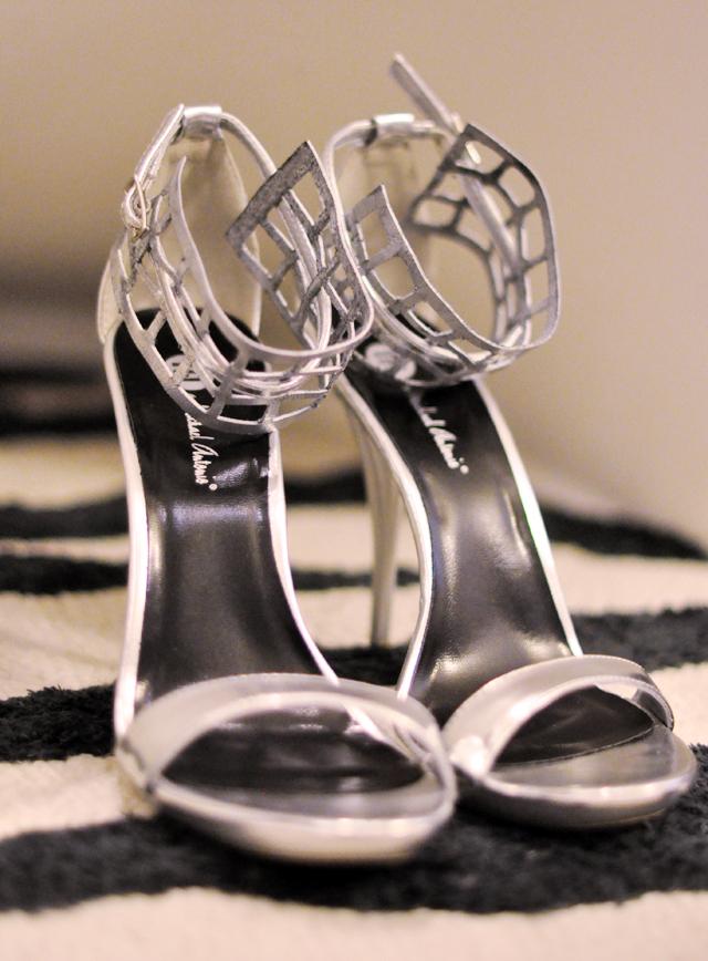 silver strappy sandals heels diy