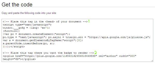 Kod html butang sosial Google+ profile