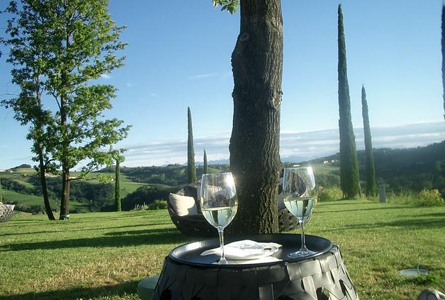 Italia sul vino e paesaggio