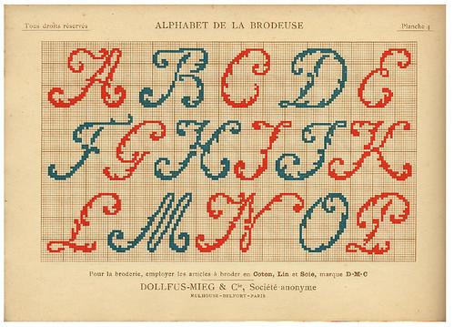 004-Alphabet de la Brodeuse1932- Thérèse de Dillmont