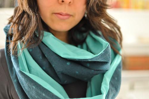 nani Iro flannel + voile scarf