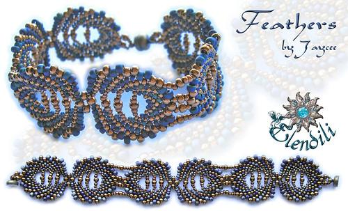 Feathers Bracelet by **Elendili**