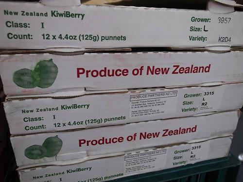 紐西蘭袖珍奇異果,迷你奇異果,kiwiberry, baby kiwi,size:L,1盒125克,1箱12盒。淨重1.5公斤。