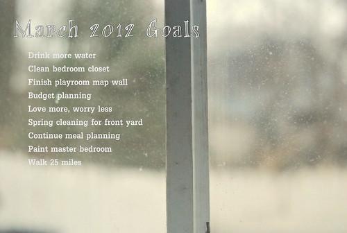 March 2012 Goals