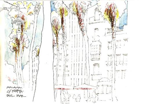 Malaga Sketchcrawl-Pta. del Mar
