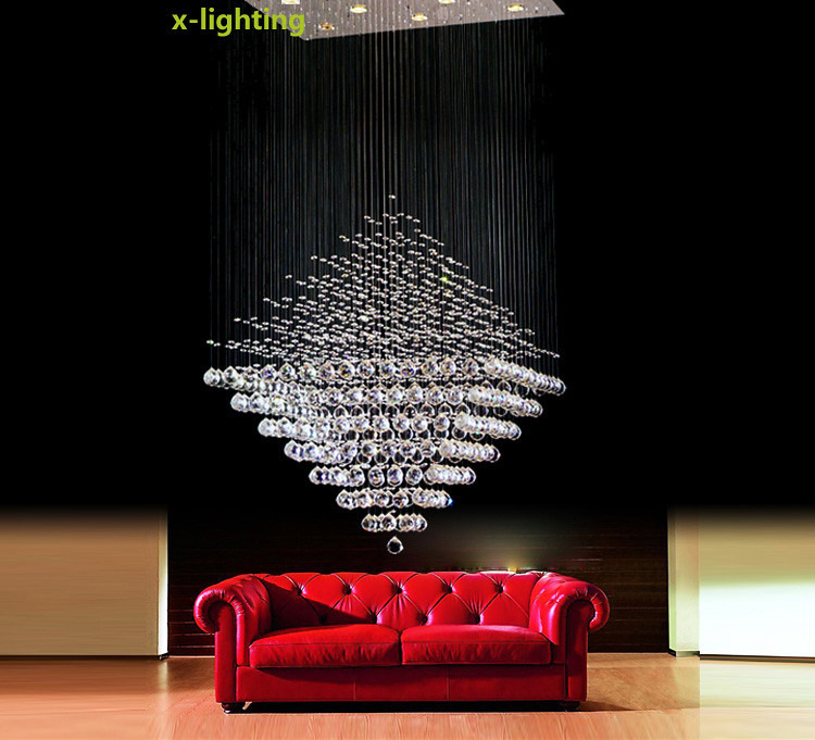Modern Lighting Crystal Pendant Lamp Diamond Ceiling Light Rain – Raindrop Chandelier Crystals