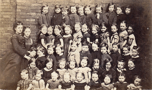 Group of children. Manchester. 1870s.