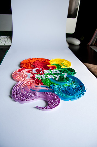 """Quilled """"Can I Stay?"""""""