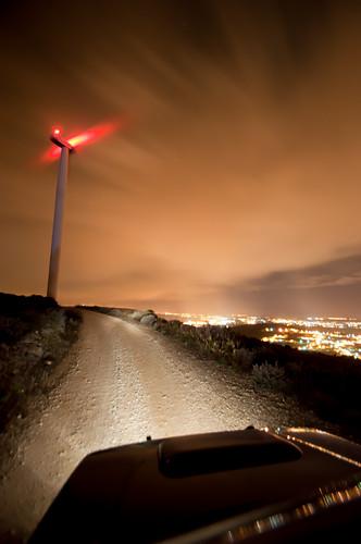road longexposure portugal night clouds lights offroad gravel windgenerator portodemós alqueidãodaserra tamron1024mmf3545diiildsp