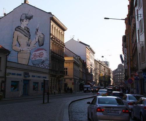 Pepsi-Cola 1960s Mural Well Preserved Downton Praga Old Citty by roitberg