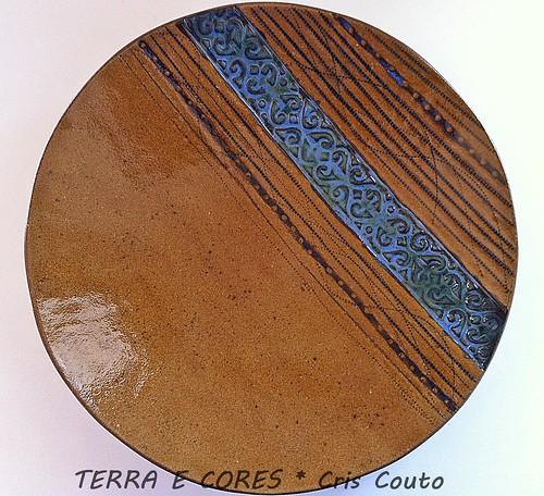 Prato com faixa azul by cris couto 73
