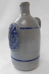 78 German stoneware, stone gin, Levert & co De Wildeman Amsterdam, bottle 1