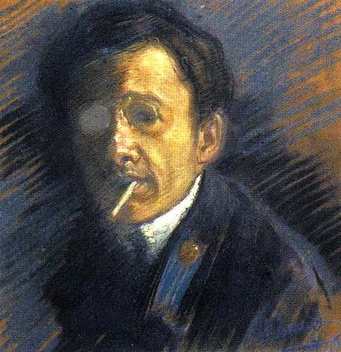 Annenkov, Yuri (1889-1974) - 1910 Self-Portrait (State Russian Museum, St. Petersburg, Russia)