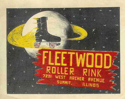An old advertisement for the Fleetwood Roller Rink.  Summit Illinois USA.  (1960's era.) by Eddie from Chicago