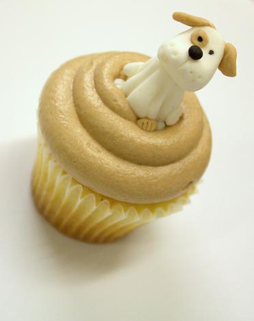 Cute Puppy Cupcake