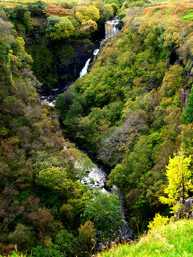 lealt falls,isle of skye,scotland. by bearded iris