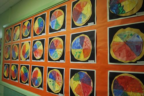 color wheel art