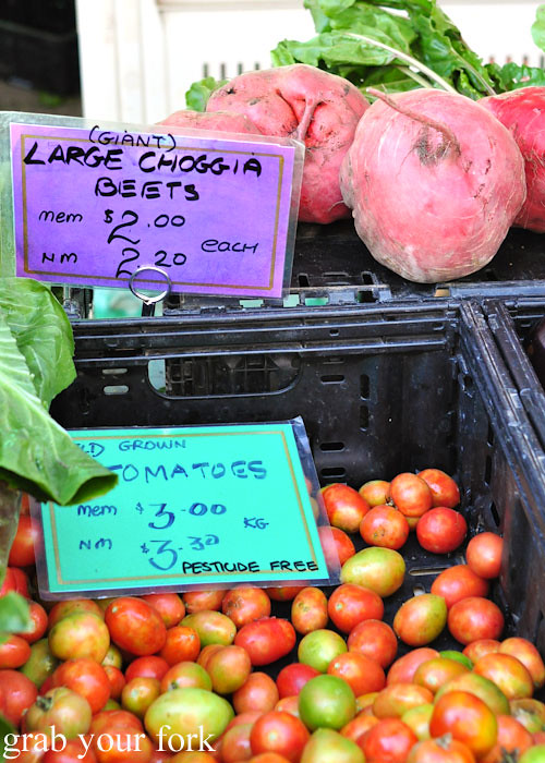 Choggia beets at the Adelaide Showground Farmers Market