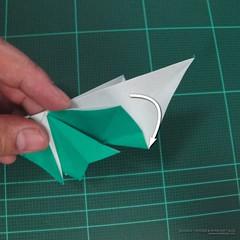 วิธีพับกระดาษเป็นรูปหมู (Origami Pig) 022