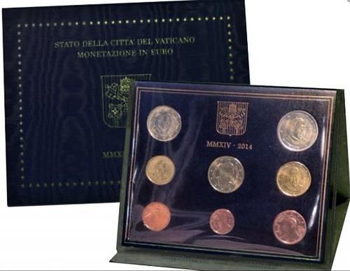 Oficiálna sada 8 Euro mincí Vatikán 2014