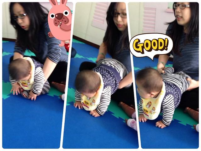 嬰兒瑜珈小秘技:爬行練習