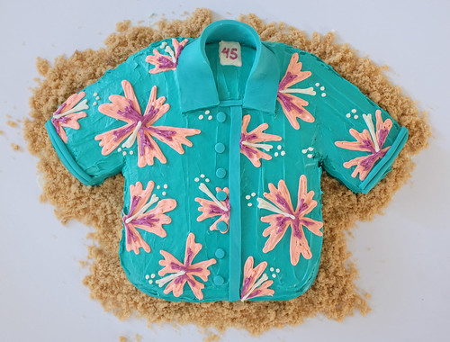 Hawaiian shirt cake