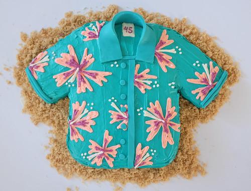 Hawaiian shirt cake