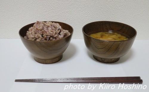 木の食器、ご飯椀&汁椀